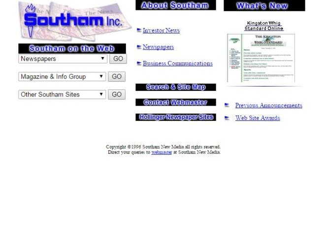southam.com 1996