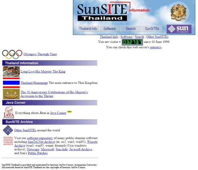 sunsite.au.ac.th 1996