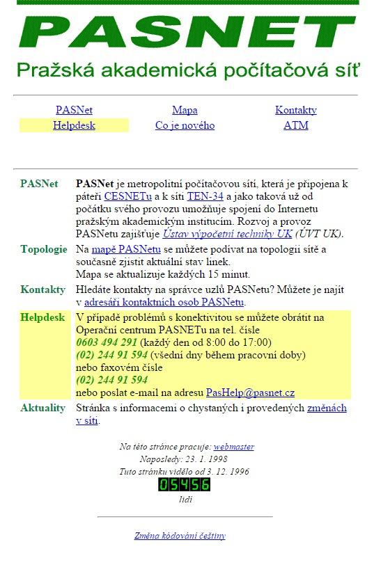 pasnet.cz 1998