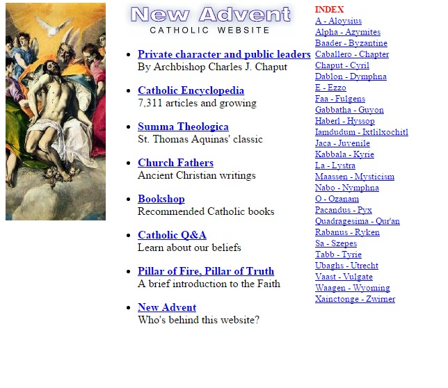 newadvent.org 1999