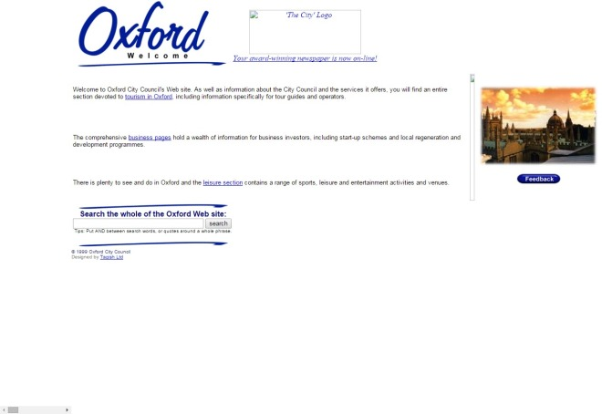 oxford.gov.uk 1999