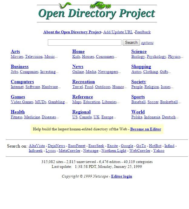 directory.mozilla.org 1999
