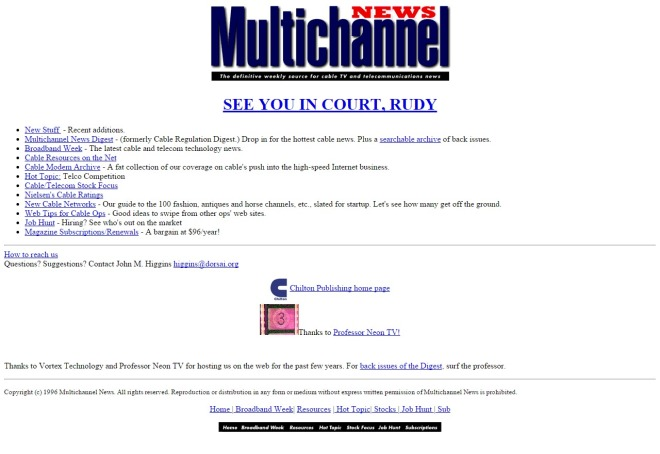 multichannel.com 1996