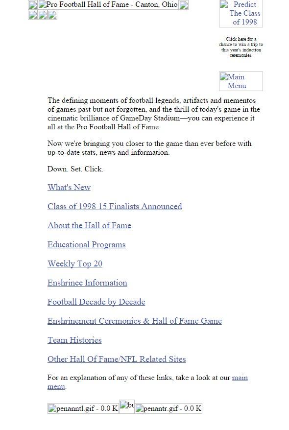profootballhof.com 1998