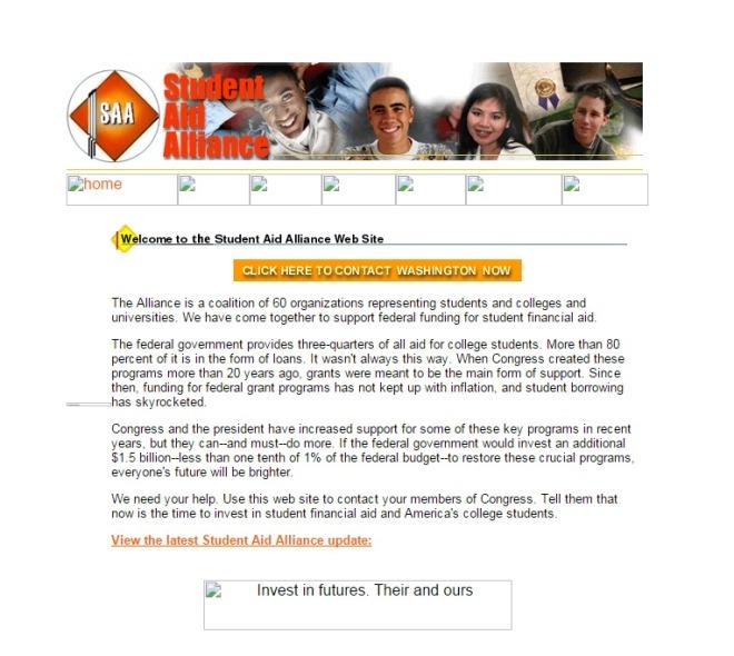 studentaidalliance.org 2000